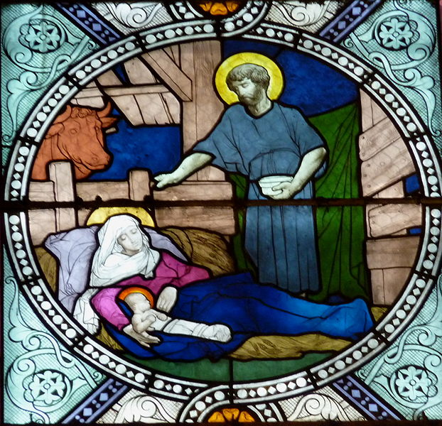 Nativity window Notre Dame