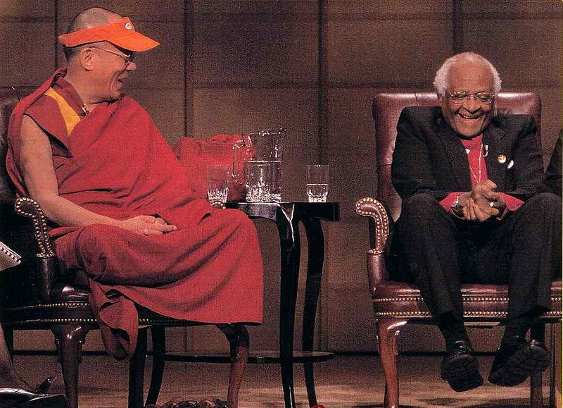 Laughing Dalai Lama and Tutu