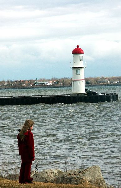 Girl and lighthouse